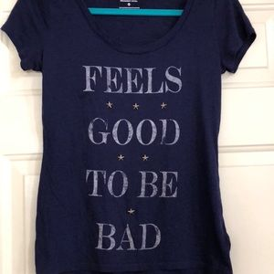 Feels good to be bad Express graphic T-shirt